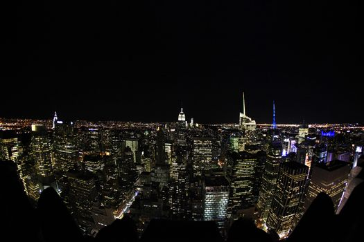 New York City Manhattan skyline aerial view with Empire State an