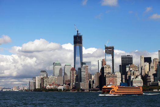 Regular ferry service between New York City - Manhattan and Staten Island