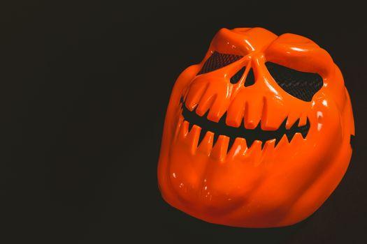 Monster mask over black background