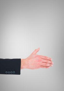 Hand reaching for handshake