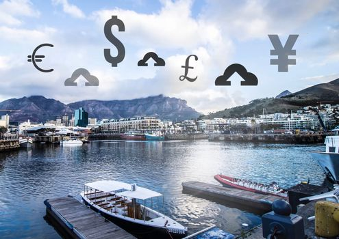Currency upload online over marina