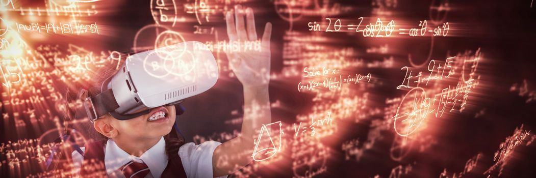 Composite image of illustration of mathematical equations