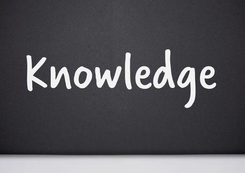 Knowledge text on blackboard