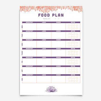 Food planner template