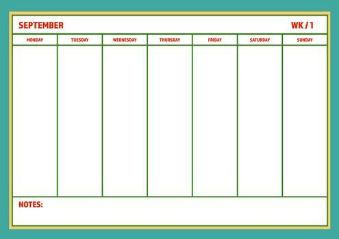 Weekly planner template