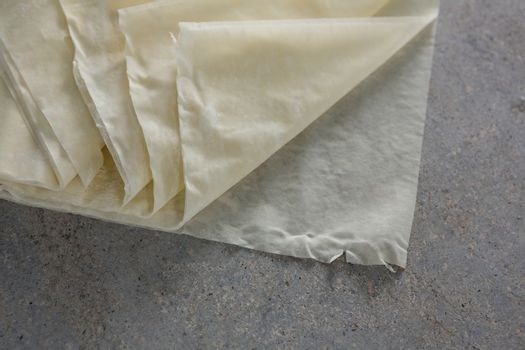 Close-up of wax paper