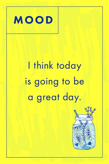 Greeting card with motivational text
