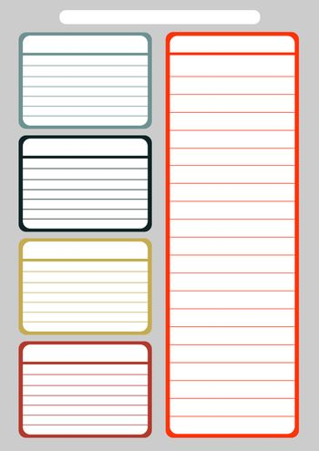 Daily planner template layout