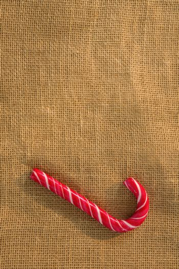 Overhead view of candy cane