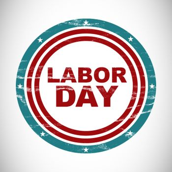 Labor day text in circles