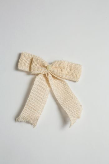Close up of tied bow
