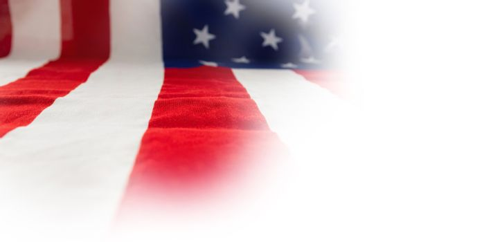Close-up of American flag