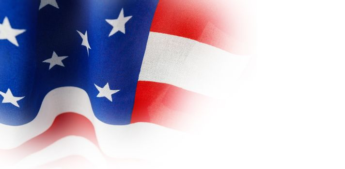 American flag with stripes and stars