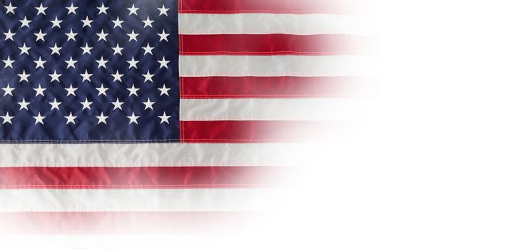 American national flag with stars and stripes