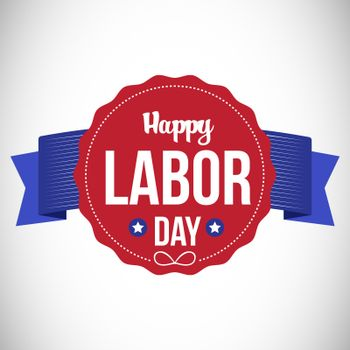Happy labor day text in banner
