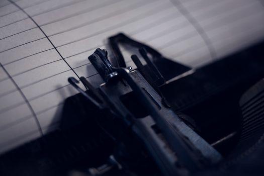 Cropped image of typewriter