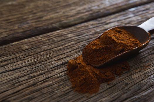 Rasam powder in scoop