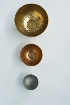 Three various stainless bowl