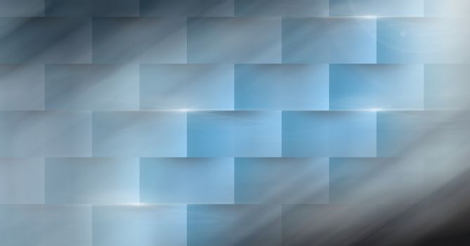 Abstract transition with  rectangular ridges and motion blur