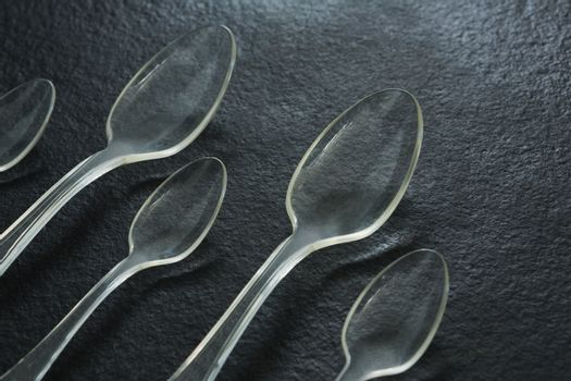 Various disposable spoons