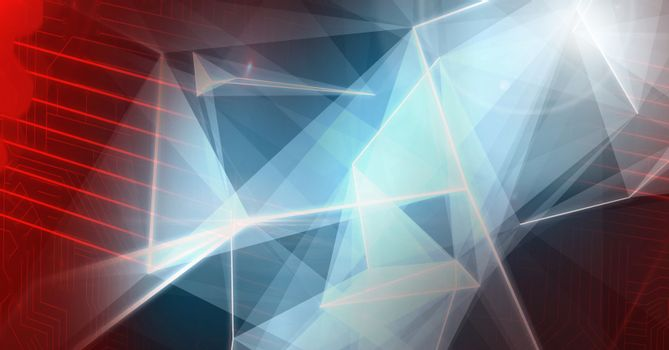 Abstract transition with polygon shapes