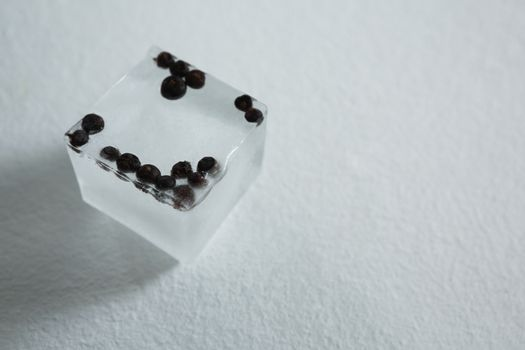 Flavored ice cubes with spices