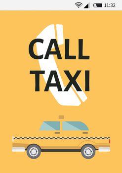 Taxi App interface