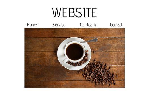 Minimalist website interface
