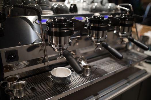 Close-up of coffee machine