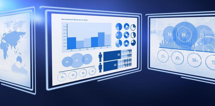 Digital image of business graphs