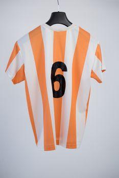 Close-up of football jersey fabric