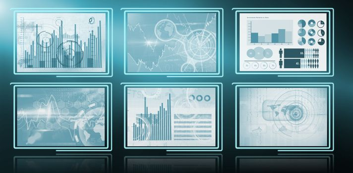 Composite image of business graphs