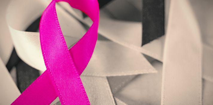 Close-up of Cancer Awareness ribbons
