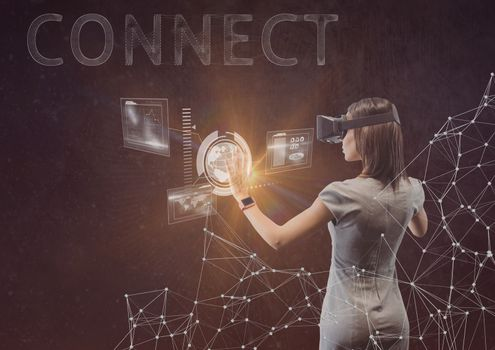 woman with vr connect