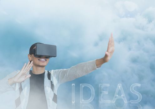 guy with vr in clouds ideas