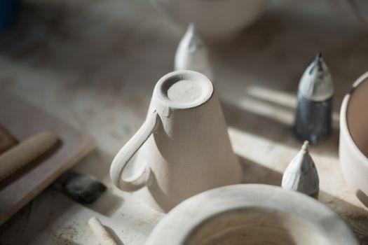 Close-up of ceramic mug