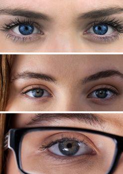 Collage of eyes close ups