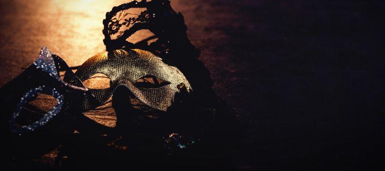 Masks on stage