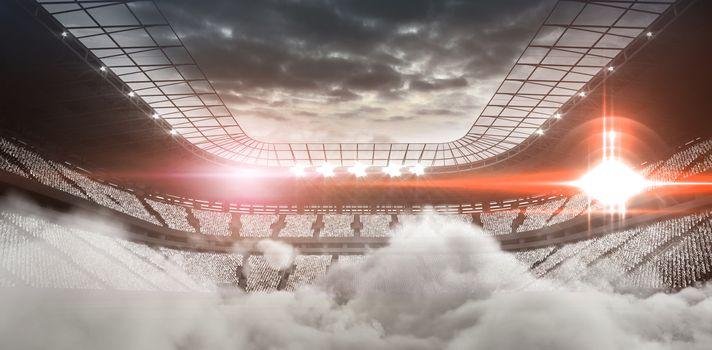 Digitally generated image of stadium