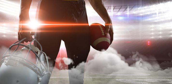 Digitally generated image of illuminated stadium