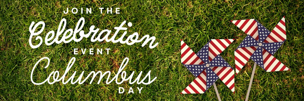 Composite image of title for columbus day event