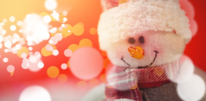 Close-up of snowman