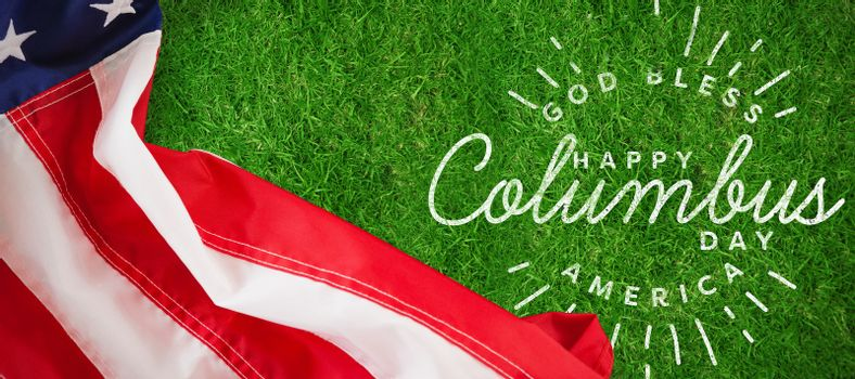 Composite image of title for celebration of colombus day