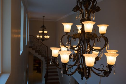 Chandelier at home