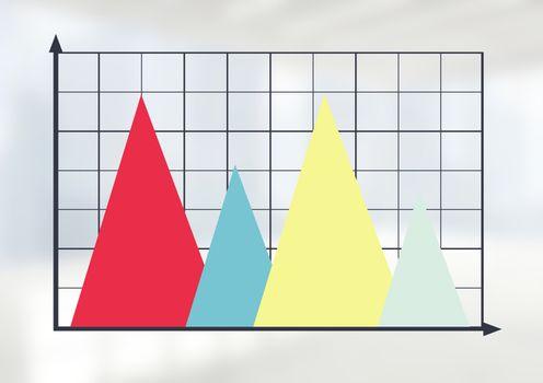 Triangular chart grid with bright background