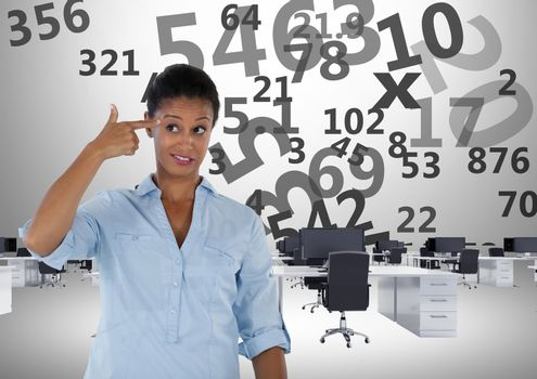 frustrated woman doing calculations