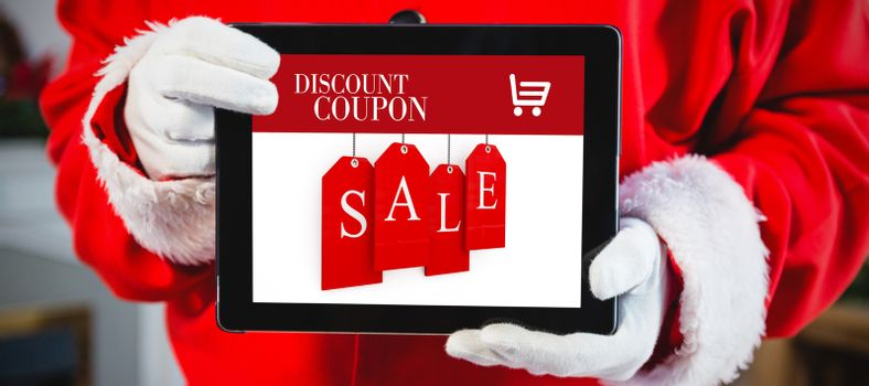 Composite image of sale advertisement