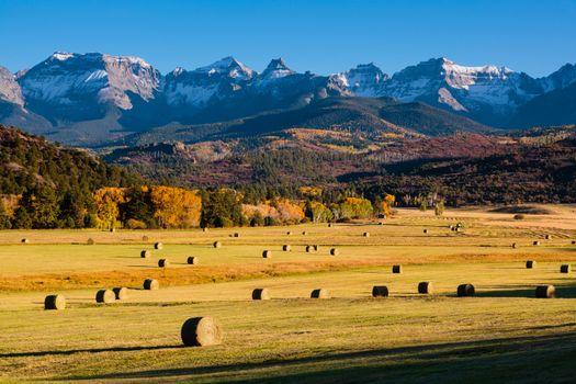 Autumn scene on a ranch near Ridgway, Colorado