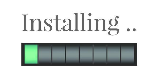 Installing progress status power bar