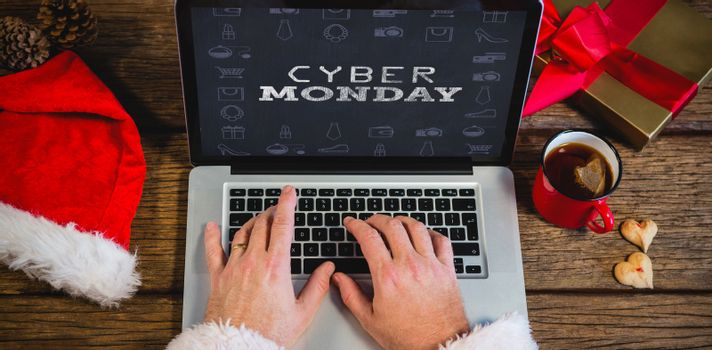 Composite image of title for celebration of cyber monday